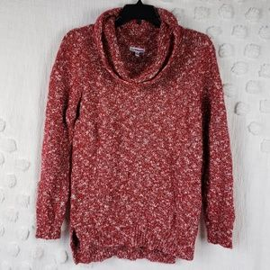 Croft & Barrow Red Cowlneck Sweater sz small